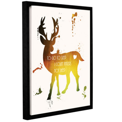 Brushstone Deer Gallery Wrapped Floater-Framed Canvas Wall Art