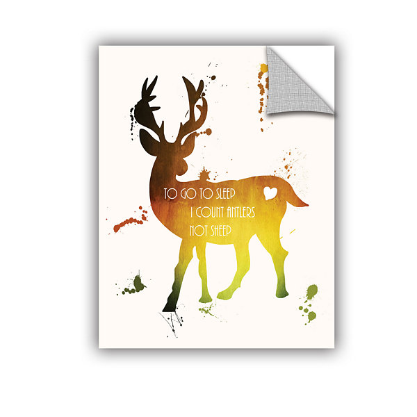 Brushstone Deer Removable Wall Decal