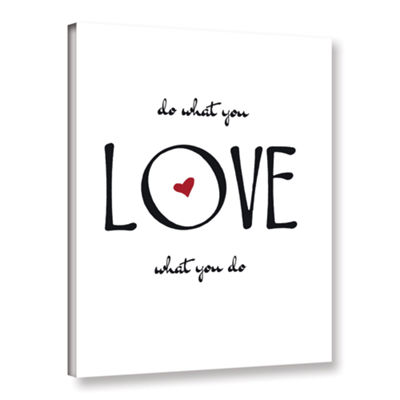Brushstone Do What You Love Gallery Wrapped CanvasWall Art