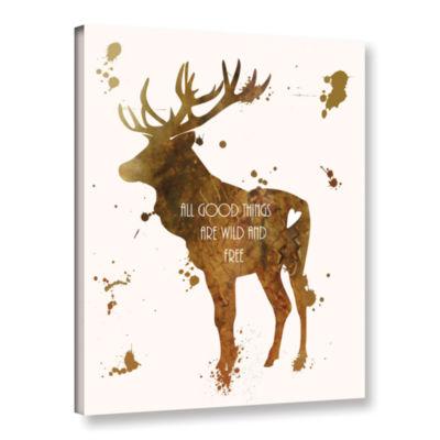 Brushstone Elk Gallery Wrapped Canvas Wall Art