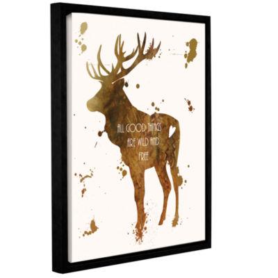 Brushstone Elk Gallery Wrapped Floater-Framed Canvas Wall Art