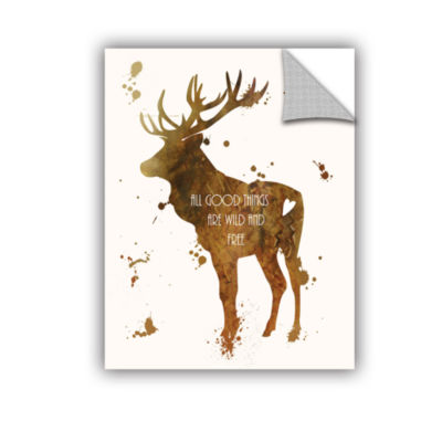 Brushstone Elk Removable Wall Decal