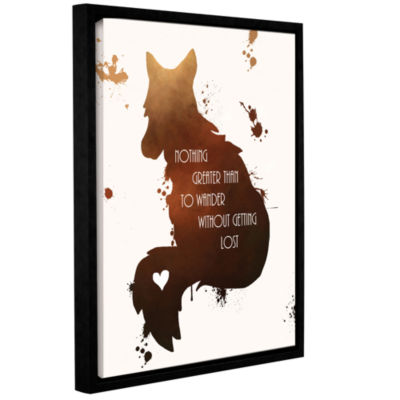 Brushstone Fox Gallery Wrapped Floater-Framed Canvas Wall Art