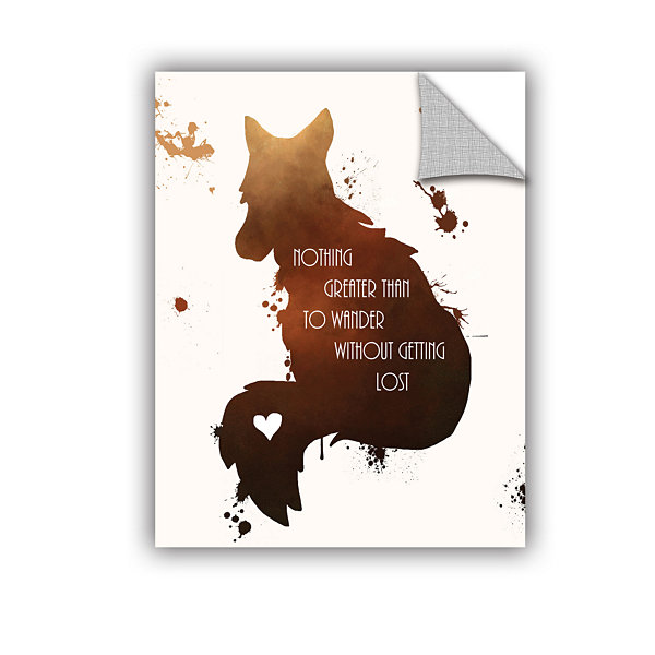 Brushstone Fox Removable Wall Decal