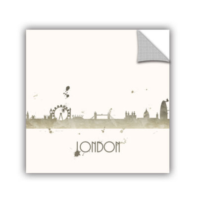 Brushstone Grey London I Removable Wall Decal