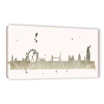 Brushstone Grey London II Gallery Wrapped Canvas Wall Art