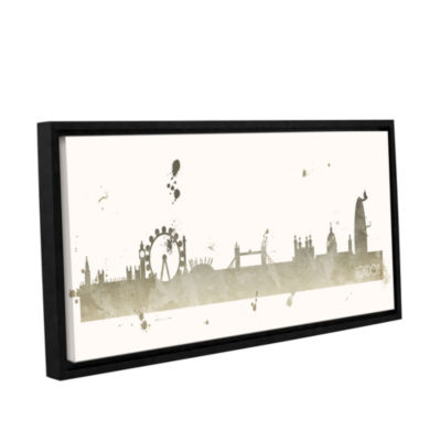 Brushstone Grey London II Gallery Wrapped Floater-Framed Canvas Wall Art