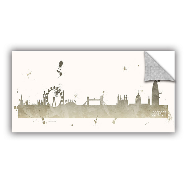 Brushstone Grey London II Removable Wall Decal