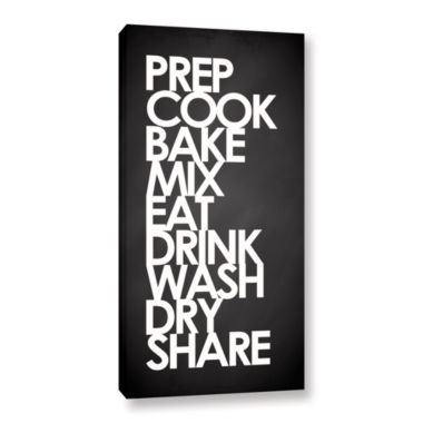 Brushstone Kitchen Words Gallery Wrapped Canvas Wall Art