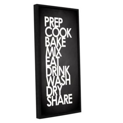 Brushstone Kitchen Words Gallery Wrapped Floater-Framed Canvas Wall Art