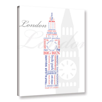 Brushstone London Typography Gallery Wrapped Canvas Wall Art