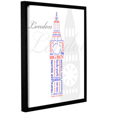 Brushstone London Typography Gallery Wrapped Floater-Framed Canvas Wall Art
