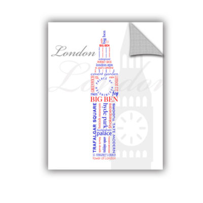 Brushstone London Typography Removable Wall Decal