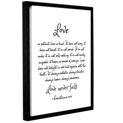 Brushstone Love Corinthians Gallery Wrapped Floater-Framed Canvas Wall Art