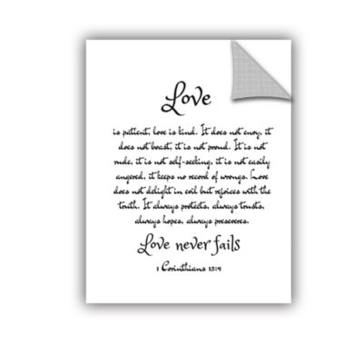Brushstone Love Corinthians Removable Wall Decal
