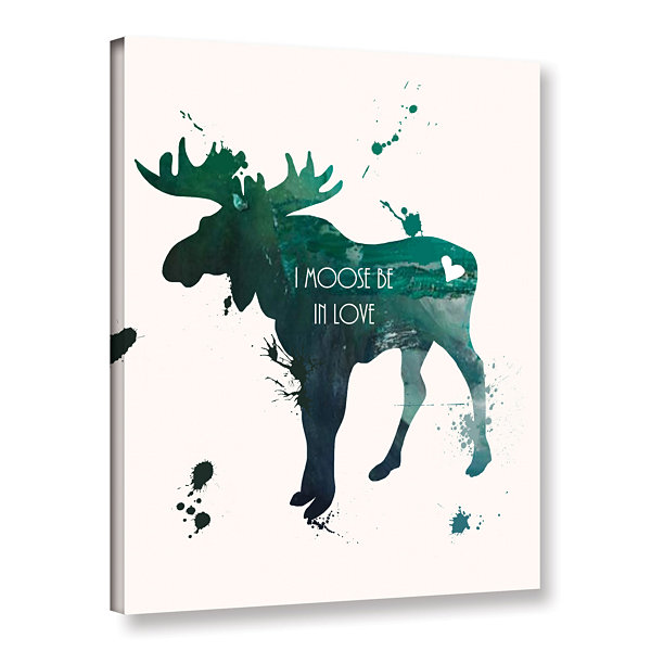 Brushstone Moose Gallery Wrapped Canvas Wall Art