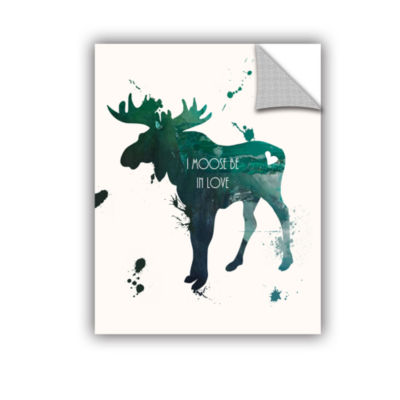 Brushstone Moose Removable Wall Decal