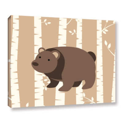 Brushstone Bear Birch 1 Gallery Wrapped Canvas Wall Art