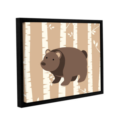 Brushstone Bear Birch 1 Gallery Wrapped Floater-Framed Canvas Wall Art