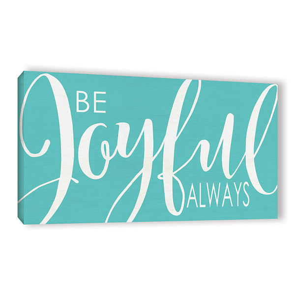 Brushstone Be Joyful Turquoise Gallery Wrapped Canvas Wall Art