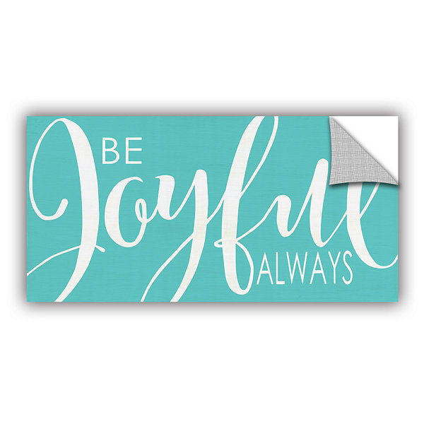 Brushstone Be Joyful Turquoise Removable Wall Decal