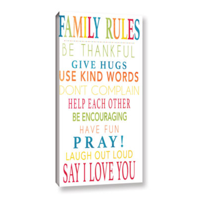 Brushstone Family Rules Gallery Wrapped Canvas Wall Art