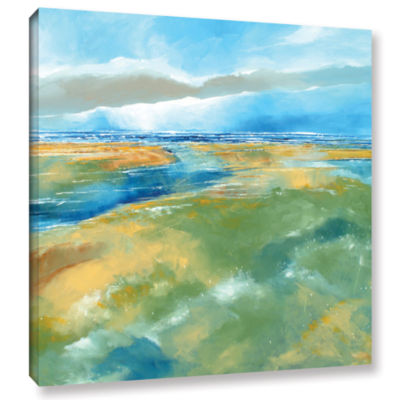 Brushstone A Blustry Day Near Salthouse Gallery Wrapped Canvas Wall Art