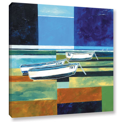 Brushstone Abstract Boats III Gallery Wrapped Canvas Wall Art