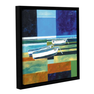 Brushstone Abstract Boats III Gallery Wrapped Floater-Framed Canvas Wall Art