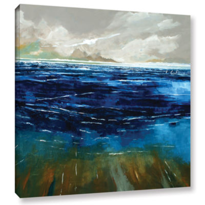 Brushstone Beach And Sea Gallery Wrapped Canvas Wall Art
