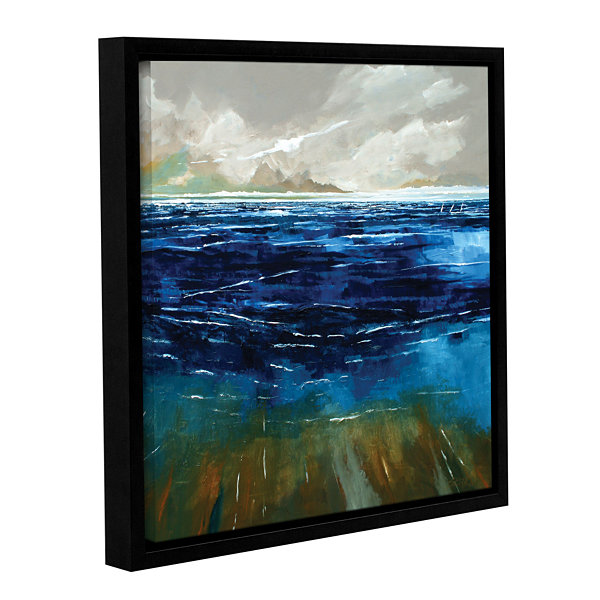 Brushstone Beach And Sea Gallery Wrapped Floater-Framed Canvas Wall Art