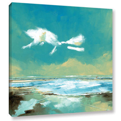 Brushstone Beach I Gallery Wrapped Canvas Wall Art
