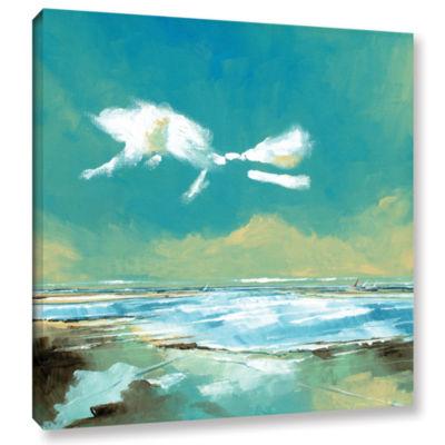 Brushstone Beach I Gallery Wrapped Canvas Wall Art