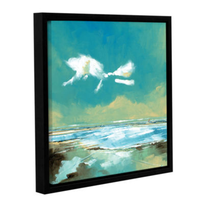 Brushstone Beach I Gallery Wrapped Floater-FramedCanvas Wall Art