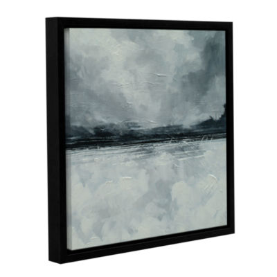Brushstone Black Sea Gallery Wrapped Floater-Framed Canvas Wall Art