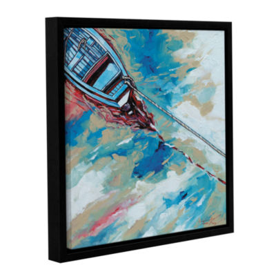 Brushstone Boat And Rope Gallery Wrapped Floater-Framed Canvas Wall Art