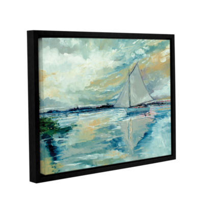 Brushstone Boat On Broads Gallery Wrapped Floater-Framed Canvas Wall Art