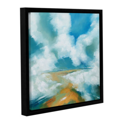 Brushstone Clouds II Gallery Wrapped Floater-Framed Canvas Wall Art
