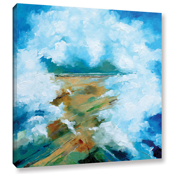 Brushstone Clouds III Gallery Wrapped Canvas WallArt