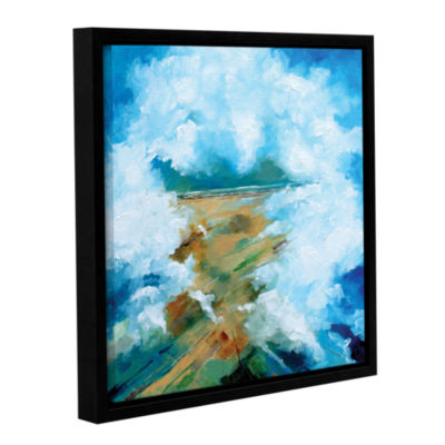 Brushstone Clouds III Gallery Wrapped Floater-Framed Canvas Wall Art