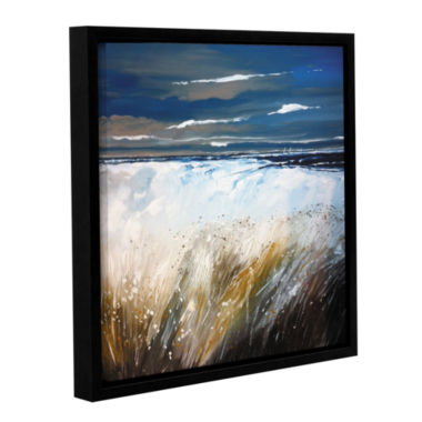 Brushstone Ferns And Beach Gallery Wrapped Floater-Framed Canvas Wall Art