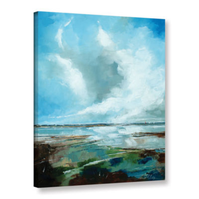 Brushstone Framed Seascape Gallery Wrapped CanvasWall Art