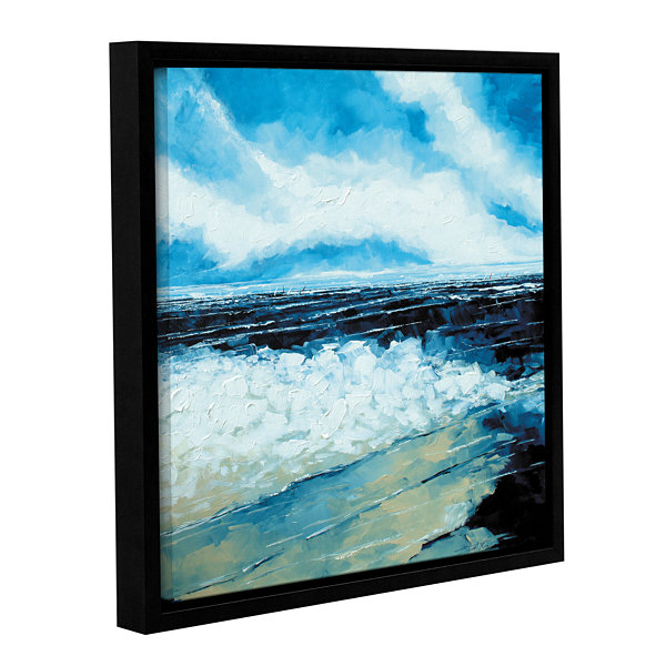 Brushstone On The Beach Gallery Wrapped Floater-Framed Canvas Wall Art