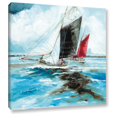 Brushstone Racing Barges Gallery Wrapped Canvas Wall Art
