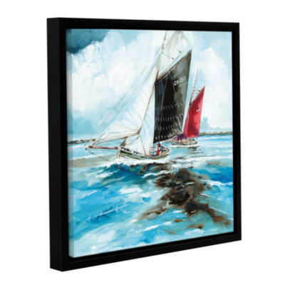 Brushstone Racing Barges Gallery Wrapped Floater-Framed Canvas Wall Art