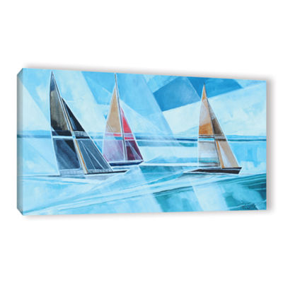 Brushstone Racing Sailboats Gallery Wrapped CanvasWall Art