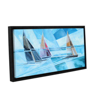 Brushstone Racing Sailboats Gallery Wrapped Floater-Framed Canvas Wall Art