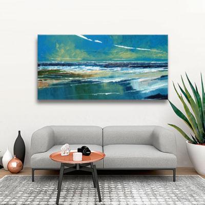 Brushstone Rectangular Sea View I Gallery WrappedCanvas Wall Art