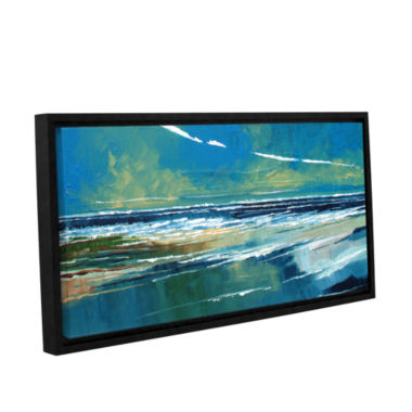 Brushstone Rectangular Sea View I Gallery WrappedFloater-Framed Canvas Wall Art