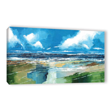 Brushstone Rectangular Sea View II Gallery WrappedCanvas Wall Art